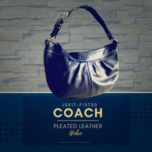 Coach Pleated Leather Hobo